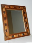 Frame is made from reclaimed 2x4, lath and salvaged mirror. Outside dimension 15 x 17 ¼. $65
