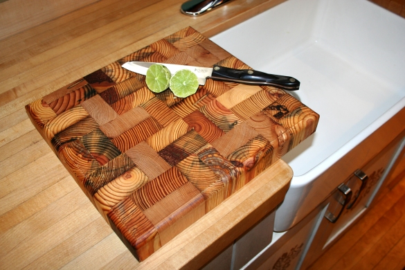 wood chopping block oil